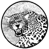Leopard Snarling Wood Mounted Rubber Stamp