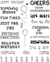 Birthday Unmounted Rubber Stamp Sheet