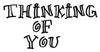 Thinking of You Wood Mounted Rubber Stamp