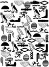 Egyptian Hieroglyphs Background Unmounted Rubber Stamp