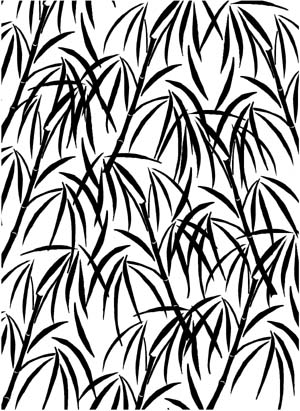 Bamboo Background Unmounted Rubber Stamp