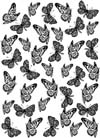Butterflies Background Unmounted Rubber Stamp