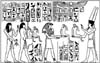 Horus Hekau Amen-hetep III Background Unmounted Rubber Stamp