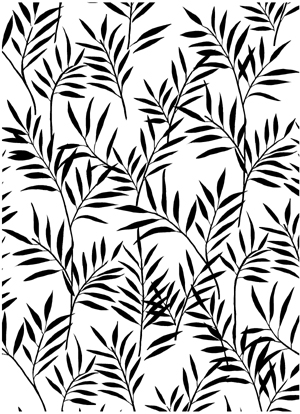 Bamboo Delicate Background Unmounted Rubber Stamp