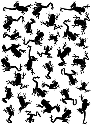 Frog Army Background Unmounted Rubber Stamp