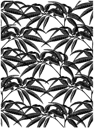 Bamboo Detailed Background Unmounted Rubber Stamp