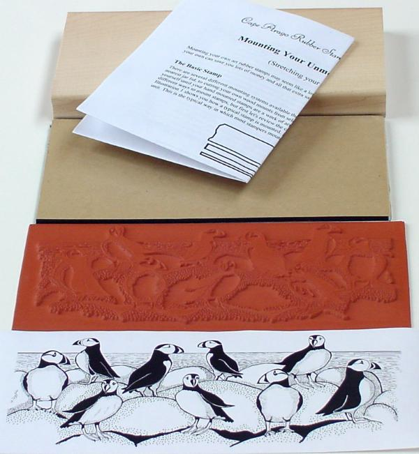 Puffins Border Unmounted Rubber Stamp Mounting Kit