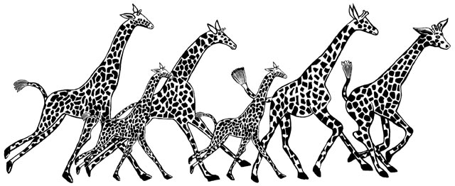 Giraffe Border Unmounted Rubber Stamp