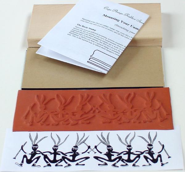 Kokopelli Border Unmounted Rubber Stamp Mounting Kit