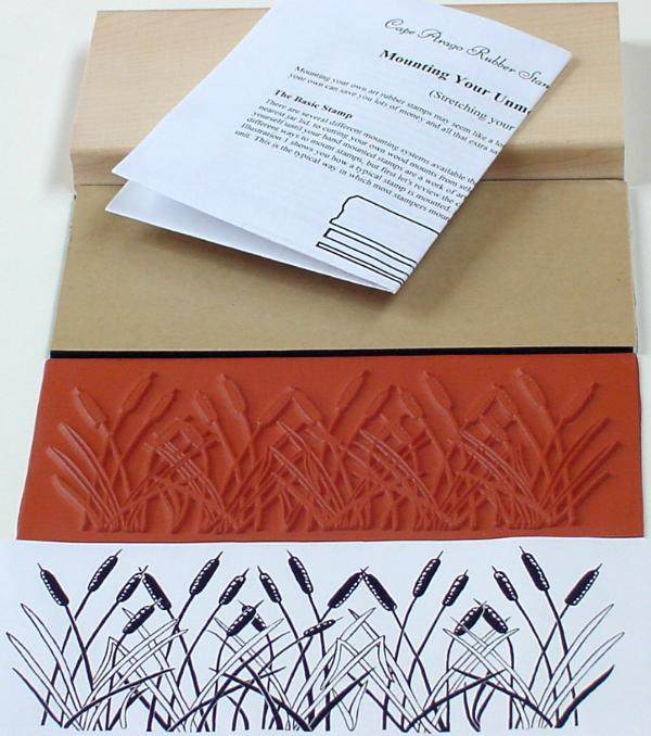 Cattails Border Unmounted Rubber Stamp Mounting Kit
