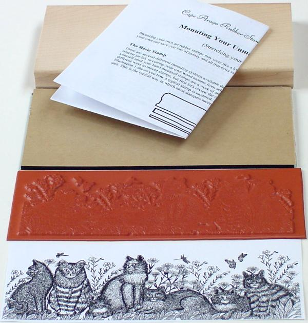 Cats Border Unmounted Rubber Stamp Mounting Kit
