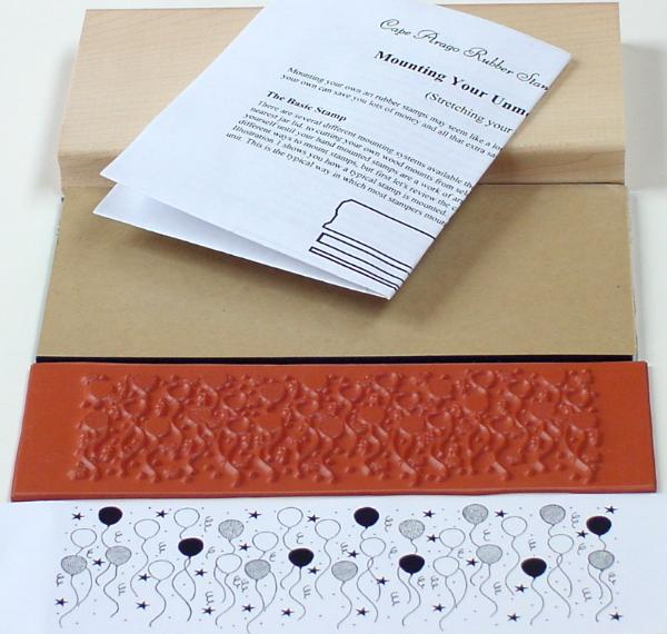 Balloons Border Unmounted Rubber Stamp Mounting Kit