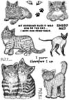 Cats and Phrases Vol 1 Unmounted Rubber Stamp Sheet