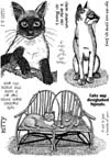 Cats and Phrases Vol 2 Unmounted Rubber Stamp Sheet