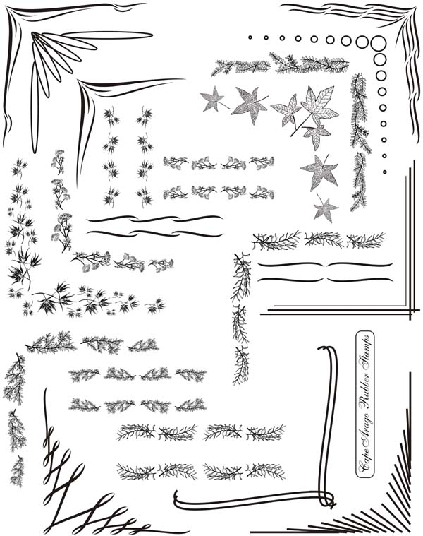 Corners and Borders Vol 1 Unmounted Rubber Stamp Sheet