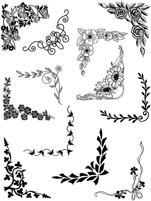 Corners and Borders Vol 3 Unmounted Rubber Stamp Sheet