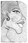 Egyptian Akhenaten Wood Mounted Rubber Stamp