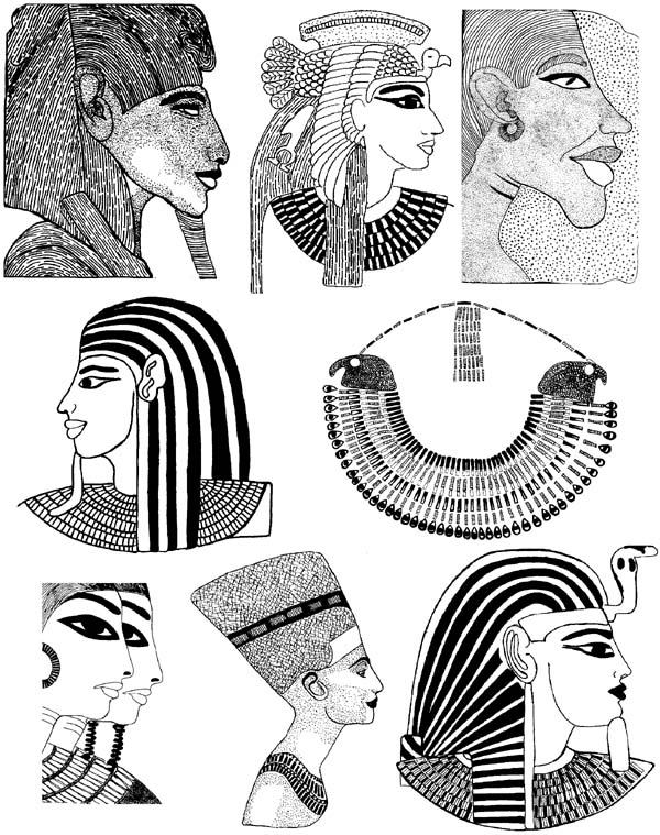 Egyptian Heads Unmounted Rubber Stamp Sheet