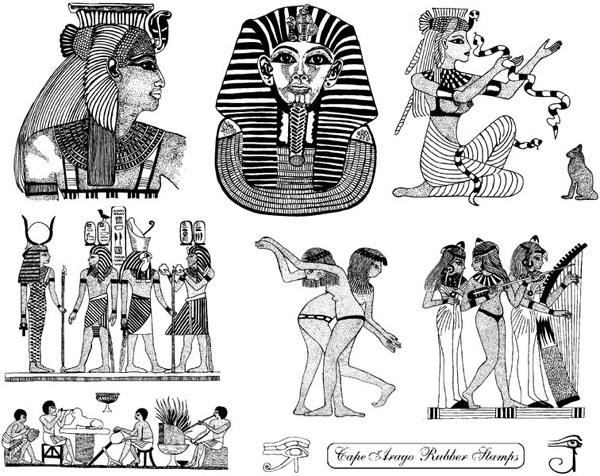 Egyptian Cleopatra Unmounted Rubber Stamp Sheet