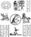 Egyptian Hieroglyphs Unmounted Rubber Stamp Sheet