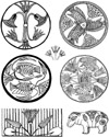 Egyptian Symbols Unmounted Rubber Stamp Sheet