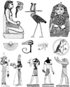 Egyptian Icons Unmounted Rubber Stamp Sheet