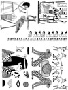 Egyptian Lions Unmounted Rubber Stamp Sheet