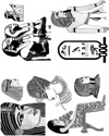 Egyptian Busts Unmounted Rubber Stamp Sheet