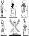 Egyptian Menthu Unmounted Rubber Stamp Sheet