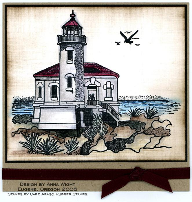 Lighthouse Card by Anna Wight