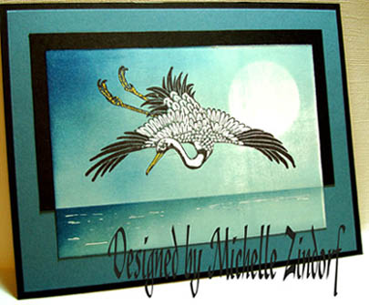 Flying heron card by Michelle Zindorf - Jan 01, 2009
