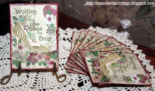 Waiting for the other shoe to drop card by Seaside Rose