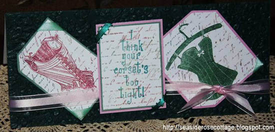 Corset card by Seaside Rose