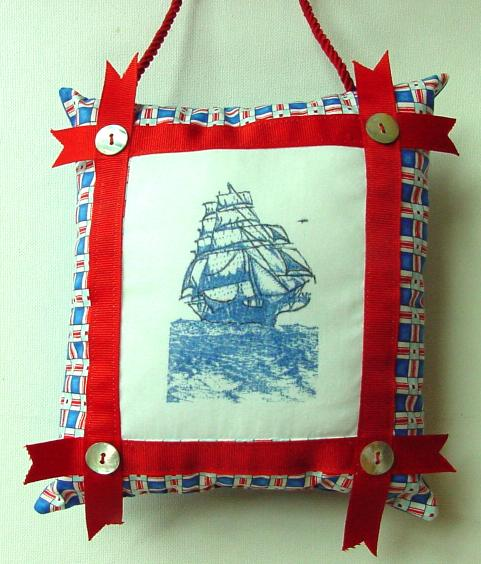 Door Charm Pillow with Tall Ship