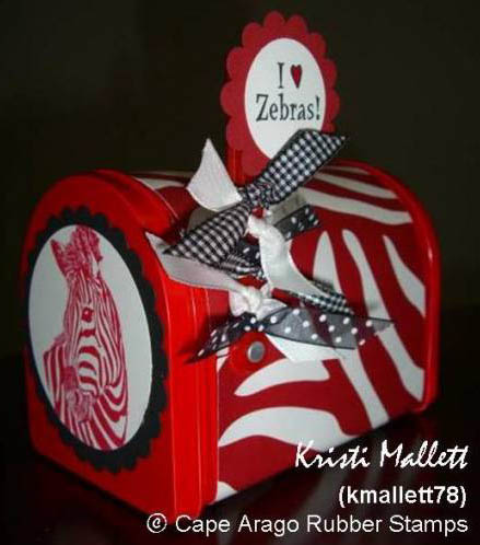 Zebra mailbox - Kristi Mallett - March 2009