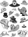 Hats Unmounted Rubber Stamp Sheet