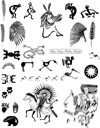 Native American Indian Images Unmounted Rubber Stamp Sheet