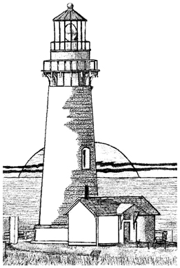 Cape Blanco Lighthouse Unmounted Rubber Stamp