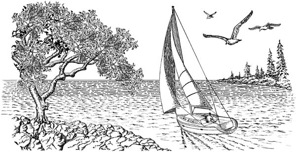 Going Sailing Unmounted Rubber Stamp