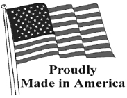 American Flag Proudly Made in America Unmounted Rubber Stamp