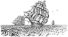 Three Tall Sailing Ships Unmounted Rubber Stamp Kit