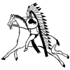 Native American Indian on Horse Little Stamper