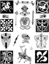 Medieval Knights Unmounted Rubber Stamp Sheet