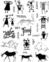 Rock Art and Petroglyphs Unmounted Rubber Stamp Sheet