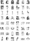 48 Egyptian Images Unmounted Rubber Stamp Sheet