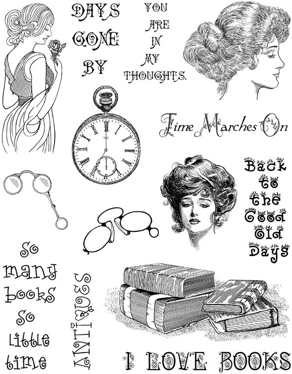 Victorian Ladies Vol 2 Unmounted Rubber Stamp Sheet