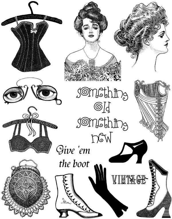 Victorian Ladies Vol 4 Unmounted Rubber Stamp Sheet