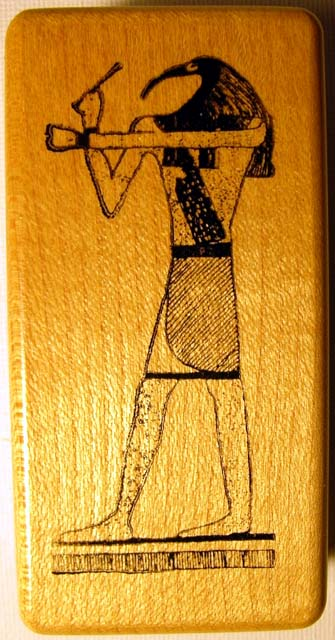 Egyptian God Thoth Wood Mounted Rubber Stamp