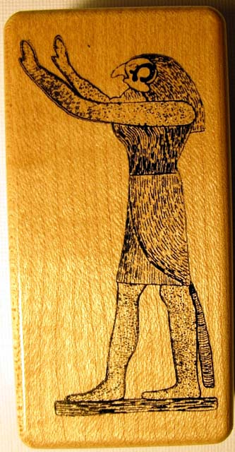 Egyptian God Horus Wood Mounted Rubber Stamp