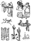 Western Images Vol 2 Unmounted Rubber Stamp Sheet